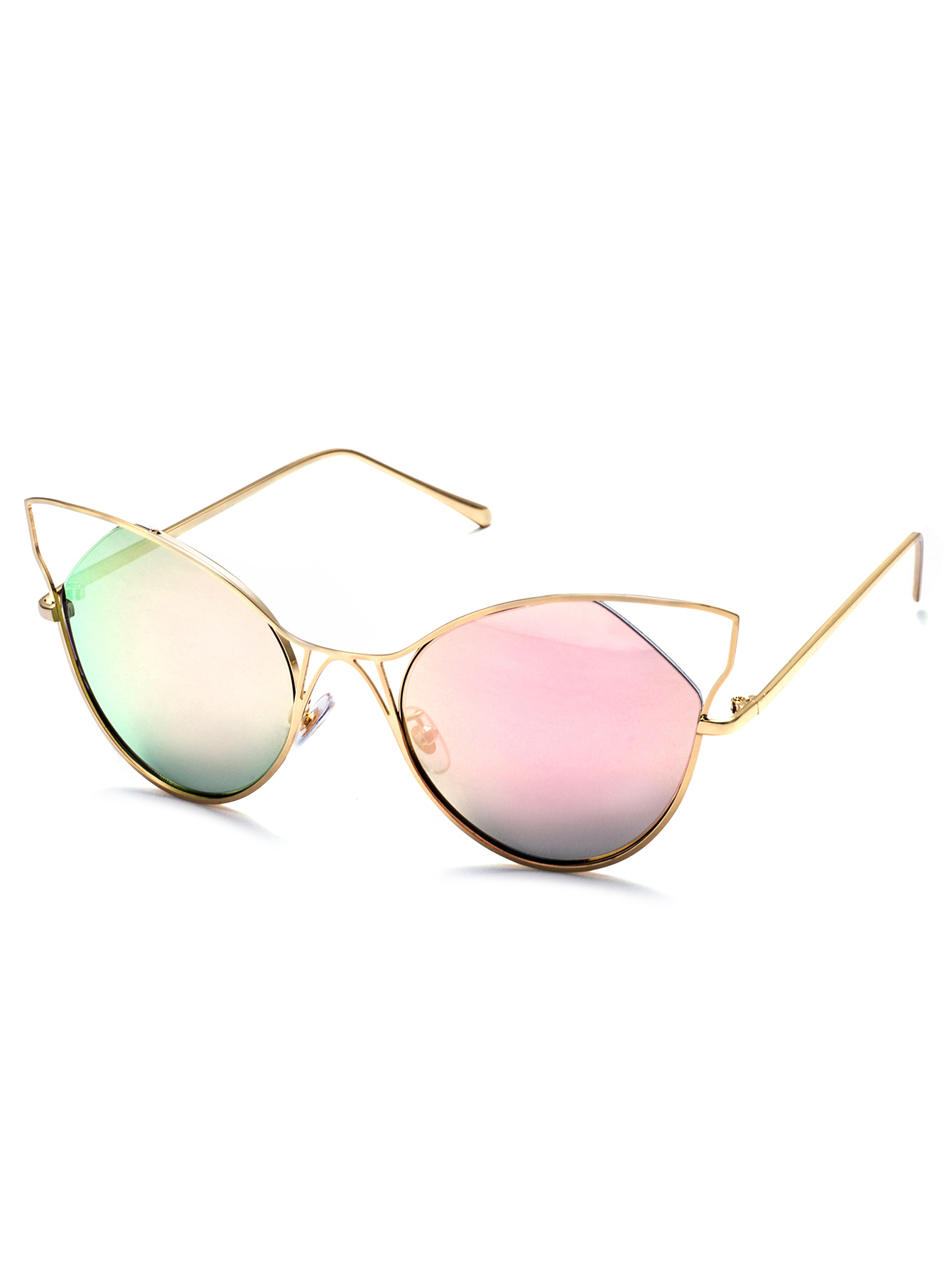 Gold Frame Pink Cat Eye Sunglasses on Luulla